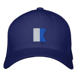 Del buceador bandera alfa abajo gorra de béisbol bordada