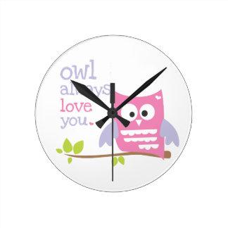 """""""del búho amor siempre que usted"""" pica y reloj púr"""