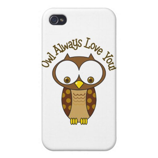 Del búho amor siempre usted iPhone 4/4S fundas