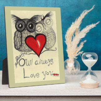 Del búho amor siempre usted - placa
