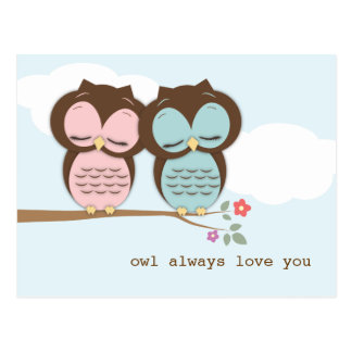 Del búho amor siempre usted postal dulce de los pa