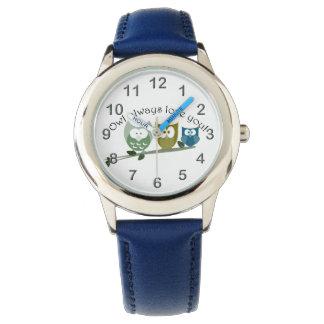 Del búho amor siempre usted, reloj lindo de los