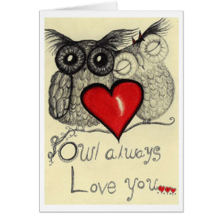 Del búho amor siempre usted… (Tarjeta de felicitac Tarjeta De Felicitación