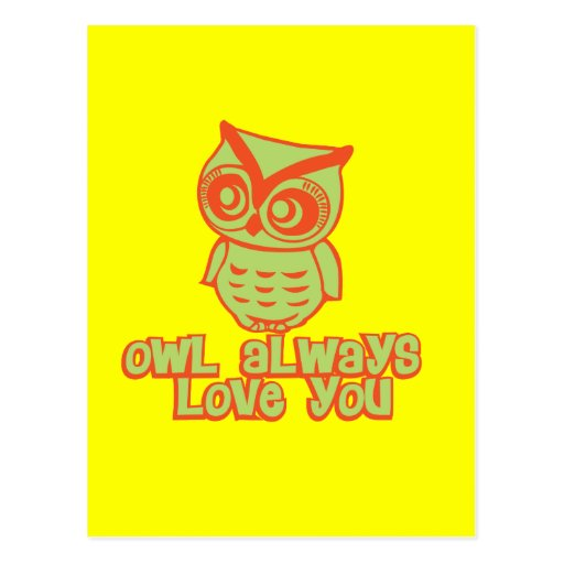 ¡Del búho amor siempre usted! Tarjetas Postales