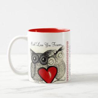 Del búho amor siempre usted taza de café