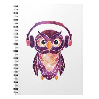 Del búho música del amor siempre spiral notebook