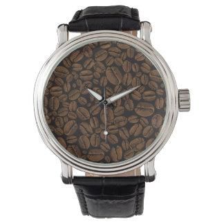 Del café de los amantes de las habas diseño de relojes de pulsera