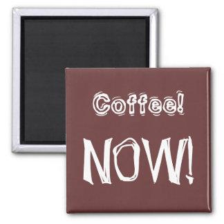 Del café jubilados ahora - imán cuadrado