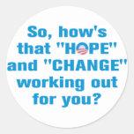 """Del """"cambio"""" de Obama pegatina anti de la """"esperan"""