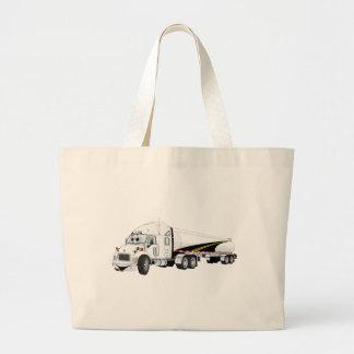 Del camino dibujo animado blanco del petrolero del bolsas