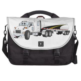 Del camino dibujo animado blanco del petrolero del bolsas para portatil