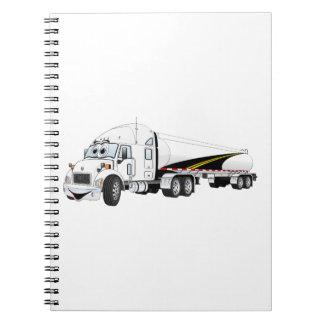 Del camino dibujo animado blanco del petrolero del spiral notebooks