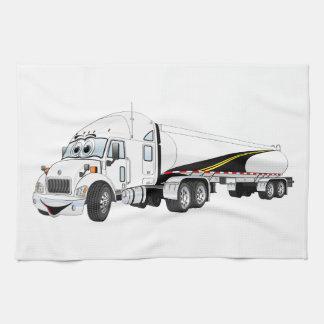 Del camino dibujo animado blanco del petrolero del toallas de cocina