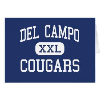 Del Campo - pumas - alto - robles justos Californi Tarjeta De Felicitación