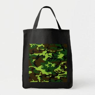 ~ del camuflaje (verde de la selva) bolsa tela para la compra