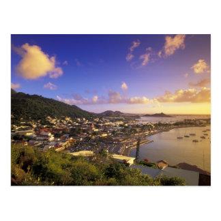 Del Caribe, francés las Antillas, San Martín. Postal