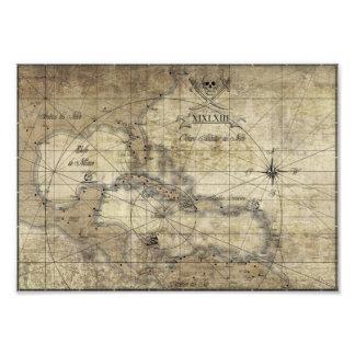 Del Caribe - mapa viejo Fotografía