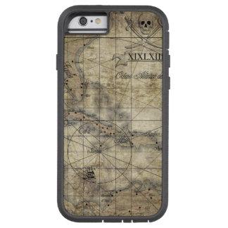 Del Caribe - mapa viejo Funda Para iPhone 6 Tough Xtreme