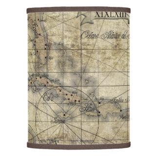 Del Caribe - mapa viejo Pantalla De Lámpara