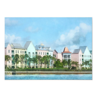 Del Caribe - salir de la isla del paraíso Invitación 12,7 X 17,8 Cm