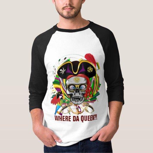 Del carnaval de la ropa del pirata del frente de playera