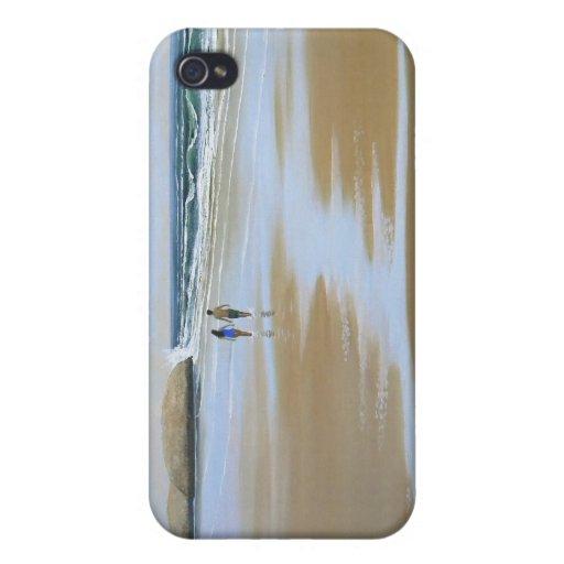 ~ del caso del iPhone que camina la playa iPhone 4 Fundas