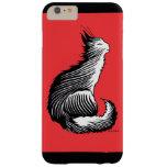 """Del """"caso más del iPhone 6 rojos felices gato"""" Funda De iPhone 6 Plus Barely There"""