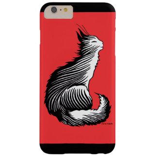 """Del """"caso más del iPhone 6 rojos felices gato"""" Funda Para iPhone 6 Plus Barely There"""