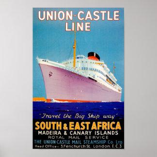 ~ del castillo de la unión la manera grande de la  póster
