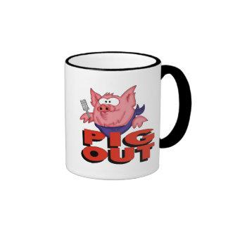 Del cerdo regalos divertidos de las camisetas haci tazas