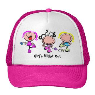 Del chica de la noche gorra hacia fuera