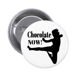 Del chocolate silueta negra ahora - pins