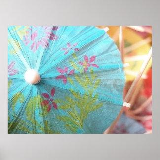 Del cierre parasol de papel para arriba - posters