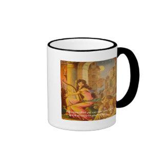 """Del """"cita de la sabiduría círculo de dios"""" de taza de dos colores"""