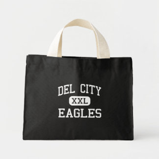 Del City - Eagles - alta - Del City Oklahoma Bolsa Tela Pequeña