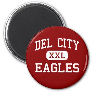 Del City - Eagles - alta - Del City Oklahoma Imán Redondo 5 Cm