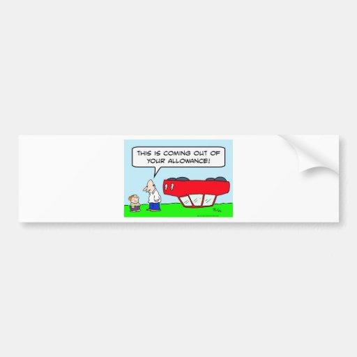 del coche niños del permiso upside-down hacia fuer pegatina para auto