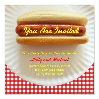Del cocinero invitación hacia fuera - perrito invitación 13,3 cm x 13,3cm