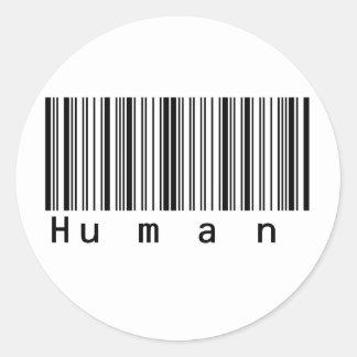 ¡Del código de barras exploraciones humanas Pegatina Redonda