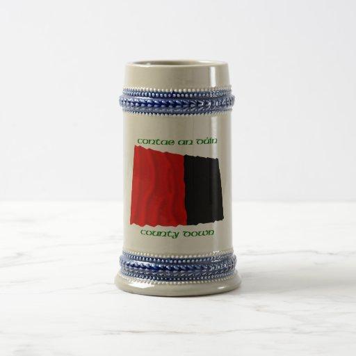 Del condado colores abajo taza de café