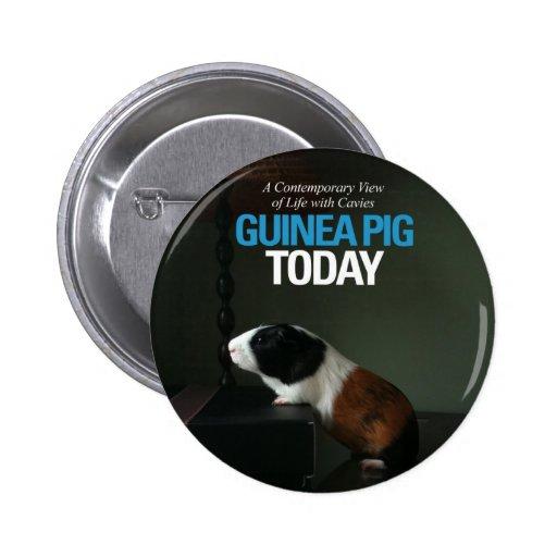 Del conejillo de Indias botón de la foto hoy Pin