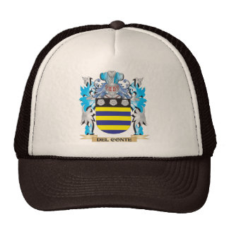 Del-Conte Coat of Arms - Family Crest Mesh Hats