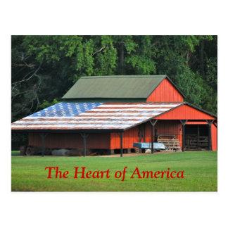 Del corazón de América postal