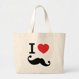Del corazón I bigote twirly Bolsas De Mano