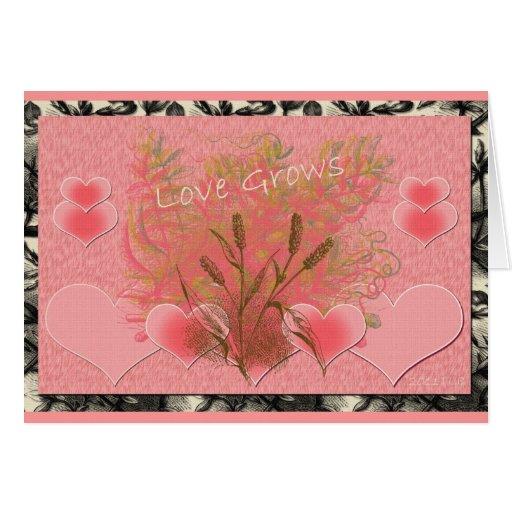 Del corazón tarjeta de felicitación