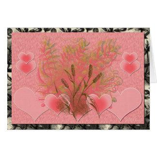 Del corazón tarjeta pequeña