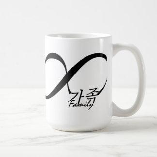 Del coreano taza de café de la familia para siempr