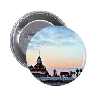 Del Coronado Sunset 2 Inch Round Button