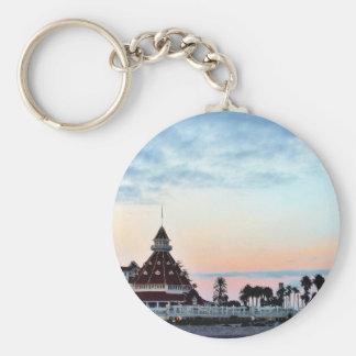 Del Coronado Sunset Basic Round Button Keychain