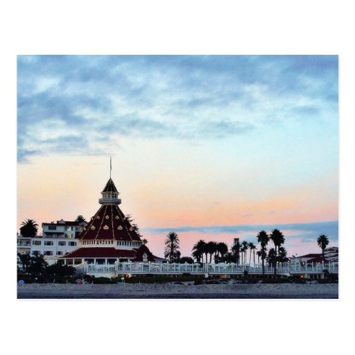 Del Coronado Sunset Post Card